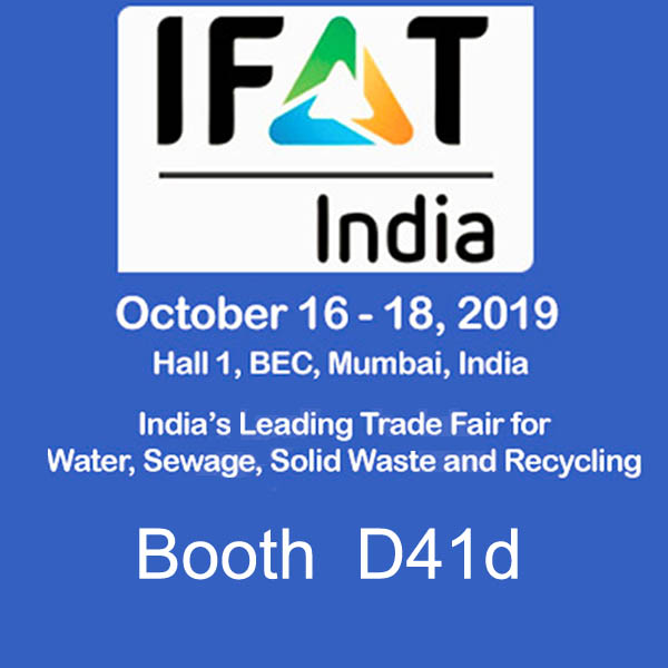 IFAT India Show,Welcome to visit us!(16-18 Oct 2019)